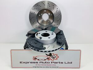 Mercedes C Class (204) 08-16 Front Brake DRILLED Disc and Pads *BRAND NEW OEM*