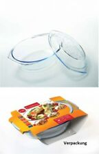 Glas Auflaufform 2,9L oval m Deckel Termisil Grill & DropSystem Kasserole Bräter