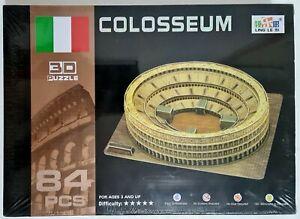 3D Puzzle 🧩 COLOSSEUM Rome Italy 🧩 84 Pieces 🧩 34cm x 27cm x 8cm NEW Coliseum