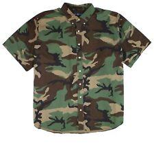 Ralph Lauren Mens Shirt Green Size Big 3X & Tall Button Down Camo $125 213