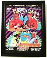 VTG WWF HULK HOGAN RIC FLAIR WRESTLEMANIA WRESTLING MAGAZINE POSTER PRINT AD WWE