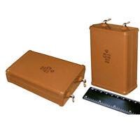 2 pcs 6uF 400V 10% PIO Audio Capacitors KBG-MN Vintage USSR NOS