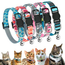 Nylon Breakaway Pet Cat Collars & Bell Safety Quick Release Small Kitten Puppy
