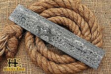 HUNTEX Forged Damascus Steel 254 mm Rain Drop Pattern Blank Billet Knife Making