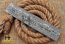HUNTEX Forged Damascus Steel 25 cm Rain Drop Pattern Blank Billet Knife Making
