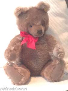 "❤STEIFF ORIGINAL TEDDY 🐻 BEAR 20"" 0202/51 JOINTED CARMEL VINTAGE 1968-90 MOHAR❤"
