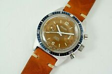 KELEK 20 ATM DIVERS CHRONOGRAPH STAINLESS STEEL w/ TROPICAL DIAL DATES 1960-70'S