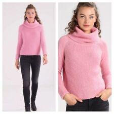 Mint Velvet Ladies Pink Wool & Angora Mix Fluffy Cowl Neck Jumper Size 6 RRP£89