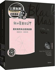 [MY BEAUTY DIARY] Black Rose Brightening Black Cotton Face & Neck Mask 5pcs/1box