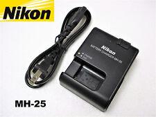 Genuine OEM Nikon D600 D610 D750 D7100 D7200 D800 D810 V1 Battery Charger MH-25