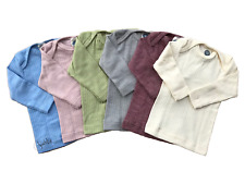 Schlupfhemd, Seide/Wolle-Baumwolle, Langarm, Cosilana, uni, gerippt, Öko, neu
