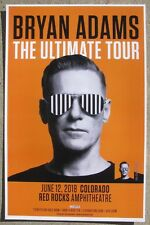 Bryan Adams Ultimate Tour 2018 Red Rocks - Colorado 11x17 Promo Concert Poster