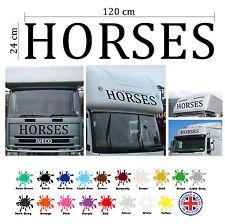 Horses Zeichen Für Pferdeanhänger Aufkleber, Vinylschild, Aufkleber, Reiter