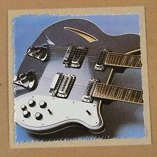 Pop-kard Feat. Rickenbacker 362/12 detalle, 15x15cm tarjeta de saludo Aas