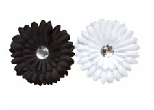 Reusable Gift Wrapping Black & White Daisies Clips (pack of 2) - Regift the Wrap