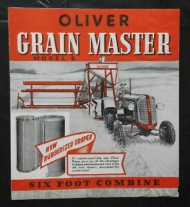 "1939 ""THE OLIVER GRAIN MASTER MODEL 6' COMBINE"" SALES BROCHURE GOOD 1"
