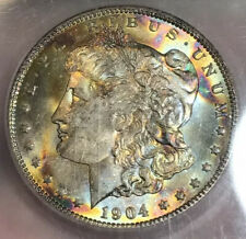 1904-O Morgan Silver Dollar ICG MS66** Insane Beauty ** Crazy Colors!!!