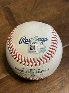 7/18/21 Brewers@Reds Sonny Gray Strikeout Yelich Game Used Ball Willy Adames