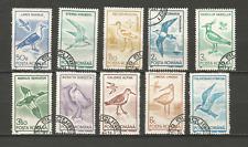 1991 oiseaux Roumanie série de 10 timbres anciens oblitérés /T4336