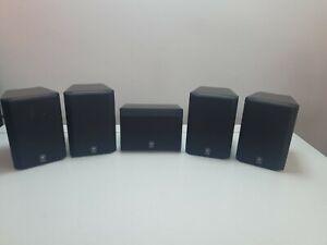 SET OF 5 Yamaha  Speaker NX C220(Central) & Yamaha NX 220P Speakers.Black.  6ohm