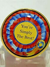 "Halcyon Days Enamel Trinket Box ""You're Simply The Best"" Tina Turner Tribute"