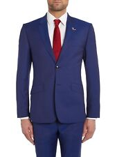 TED BAKER Plain Bright Blue Cadi Wool Suit Jacket BNWT & Suit Bag BNWT UK38S