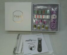 New Emjoi Naily Buffing and Trimming Device Gift Set - Purple Animal Print