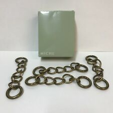 Miche Bag Interchangeable Purse Handles Antique Brass Chain Set 4 Item 9454 Box
