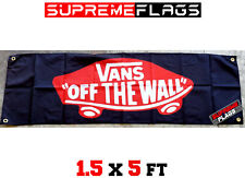 Vans Flag Banner Off The Wall Skating Shoes Garage Skateboard (18x58 in)
