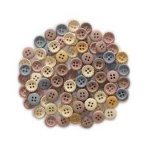 50pcs Round Wood Buttons for Sewing Scrapbooking Clothing Craft Handmade 12/15mm
