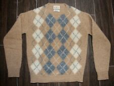 Alan Paine Mens100% Shetland All Wool Argyle Sweater sz 36 US Small (?)