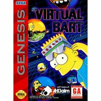 Virtual Bart - Sega Genesis Game *CLEAN VG
