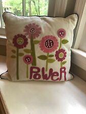Pottery Barn Pb Teen Flower Power decorative throw Pillow + Insert 17� X 17�