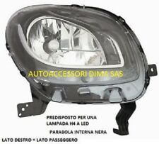 FARO A LED DX PARABOLA NERA SMART FORFOUR - FORTWO DAL  2014-   NUOVO
