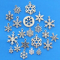 Snowflake Ultimate Charm Collection Antique Silver Tone 25 Charms - COL320