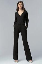 Combinaison pantalon femme noire décolleté cache coeur NIFE KM02 34 36 38 40 42