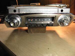 Chevrolet 1960 Biscayne, Bel Air, Impala Straight Line Tuning AM radio 12V