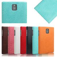For BlackBerry Passport Q30 Vintage Croco PU Leather Cover Matte Back Slim Case