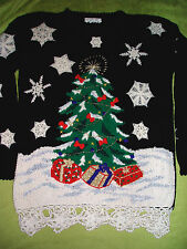 Vintage 1993 AWESOME Ugly Christmas Sweater Size Medium EUC
