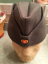 EAST GERMAN ARMY Wool OVERSEAS HAT W/ NVA PATCH, WWII Style Size 58