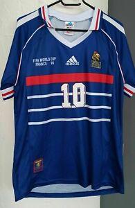 Maillot équipe de France coupe du monde 1998 Zidane S - FFF 98 shirt