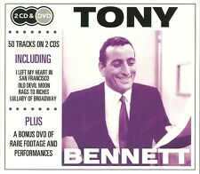 TONY BENNETT 2 CD'S & DVD INCLUDING OLD DEVIL MOON, RAGS TO RICHES & MORE