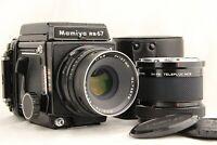 【NEAR MINT】 MAMIYA RB67 Pro S + SEKOR C 127mm f/3.8 + Teleplus MC6 x2 from JAPAN