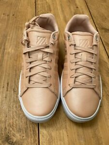 Womens K-Swiss Court Style Non-Marking Soles Nude Pink Trainers - UK Size 6 & 7