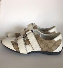 100% Authentic Women's Gucci Monogram Sneakers, 6