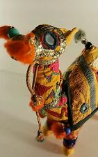 Vintage HANDWOVEN  STUFFED Camel  Embroidered 100% Cotton MADE IN INDIA t4