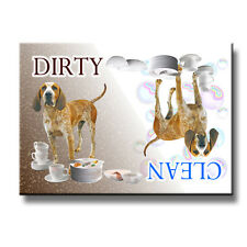 ENGLISH REDTICK COONHOUND Clean Dirty Dishwasher MAGNET Gift