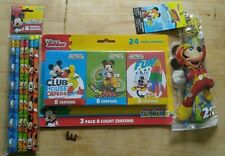 Disney Junior Mickey Mouse 24 Count CRAYONS 6 pack of Pencils & 4 pc. Ruler set