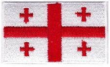 Georgia Flag Small Iron On / Sew On Patch Badge 6 x 3.5cm Georgian AIRSOFT