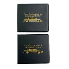 NEW Set of 2 Auto Car Registration Insurance Document Holder Wallet Organizer